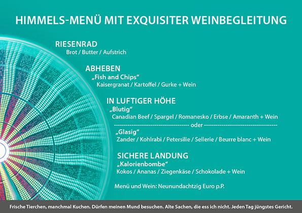 Exquisit Catering Wheel of Hope Magdeburg Menü